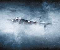Druga Wojna Światowa i samolotowy bombardowanie w locie Obrazy Royalty Free