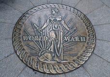 Druga Wojna Światowa pomnika emblemat Obrazy Stock