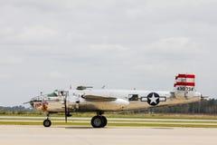Druga Wojna Światowa rocznika B-25 bombowiec Zdjęcia Stock