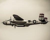 Druga Wojna Światowa rocznika B-25 bombowiec Zdjęcie Stock
