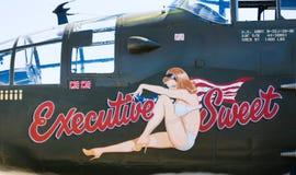 Druga Wojna Światowa samolotu dekoracja Fotografia Stock