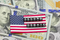 Drugi debata zdjęcie royalty free