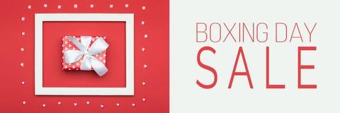 Drugi dzień Świąt Bożego Narodzenia sprzedaży sztandar Świąteczny zima wakacji sprzedaży Bożenarodzeniowy tło zdjęcie stock