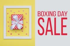 Drugi Dzień Świąt Bożego Narodzenia sprzedaży tło Świąteczny zima wakacji sprzedaży Bożenarodzeniowy tło obrazy stock