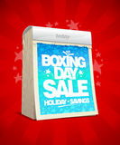 Drugi dzień Świąt Bożego Narodzenia sprzedaży projekta łzy kalendarz Zdjęcia Royalty Free