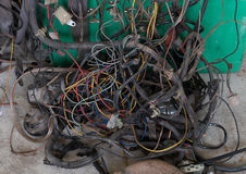 Drugi ręki drutowania samochodowy elektryczny set obraz royalty free