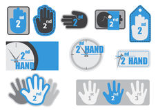 Drugi ręki etykietki etykietka Obraz Royalty Free
