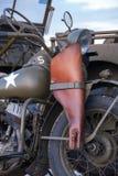 Drugiej Wojny Światowa wojska motocykl II i dżip Zdjęcie Royalty Free