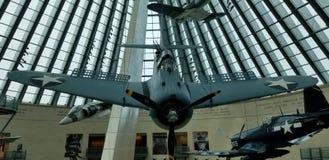 Drugiej Wojny ?wiatowej SBD nura Dauntless bombowiec przy Krajowymi korpus piechoty morskiej Muzealnymi zdjęcie royalty free