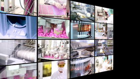 Drugproductie - Collage Royalty-vrije Stock Afbeelding