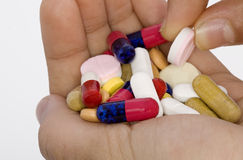 Drugs. Many people take too many drugs Royalty Free Stock Image