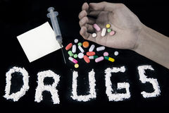 Drugs addiction Royalty Free Stock Image