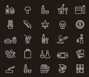 Drugs and addiction icons Stock Photos