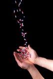 Drugs addiction. Isolated on black background Royalty Free Stock Photography