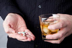 Drugs and Alcohol Royalty Free Stock Photography