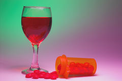 Drugs and Alcohol Royalty Free Stock Image