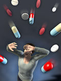 Drugs attack Royalty Free Stock Images