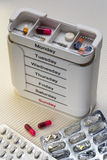 Daily Drugs Box - Medication Stock Photo