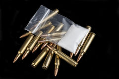 Drugs and Bullets Royalty Free Stock Image