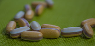 Drugs capsule and pill medicine. Assorted pills Royalty Free Stock Photography
