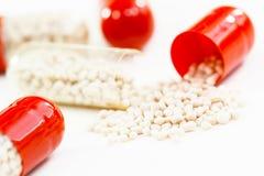 Drugs, capsules in macro Royalty Free Stock Image