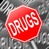 Drugs concept. Abstract illustration depicting a sign with a drugs concept Stock Photography