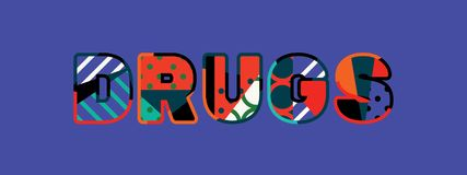 Drugs Concept Word Art Illustration stock illustration