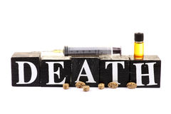 Drugs and death Stock Image