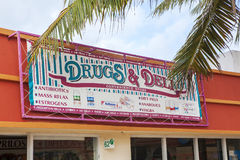 Drugs And Deli Sign In Mexico Royalty Free Stock Images