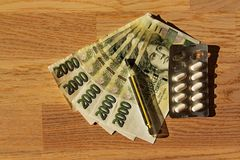 Drugs en geld Royalty-vrije Stock Fotografie