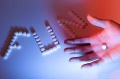 Drugs en hand Stock Afbeeldingen