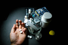 Drugs en pillen Stock Foto's
