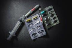 Drugs en pillen Royalty-vrije Stock Afbeeldingen