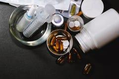 Drugs en pillen Stock Afbeelding