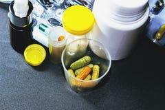 Drugs en pillen Stock Foto