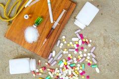 Drugs en Verslaving royalty-vrije stock afbeeldingen