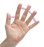 Drugs between fingers stock image