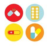 Drugs flat icon Stock Image