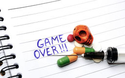Drugs ,Game Over Royalty Free Stock Photos