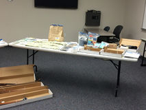 Drugs, Guns and Evidence. Drugs, guns seized as evidence by police royalty free stock photos