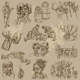 Drugs - hand drawn vector Royalty Free Stock Images