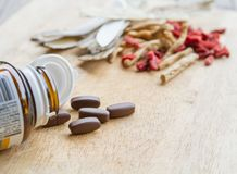 Drugs or herbs Royalty Free Stock Photo