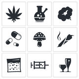 Drugs icon set Stock Photo