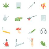 Drugs Icons Flat Royalty Free Stock Images