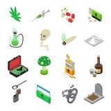 Drugs Icons Set Stock Image