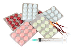 Drugs. Isolated Stock Images
