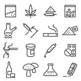 Drugs line icons. Stock Photos