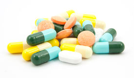 Drugs many pills Royalty Free Stock Image