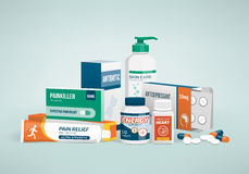Drugs and medicines Stock Photography
