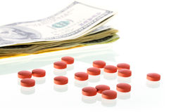 Drugs for money Royalty Free Stock Photography